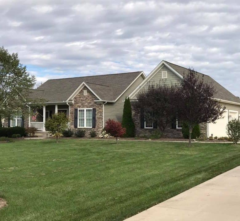 cost to install asphalt shingles ohio home with new roof
