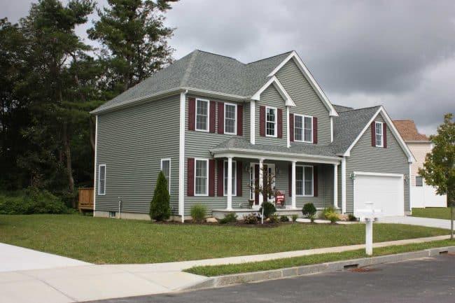 roof repair home with asphalt shingles