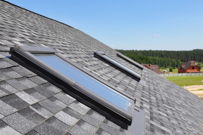 roofing company powell ohio roof with two skylights