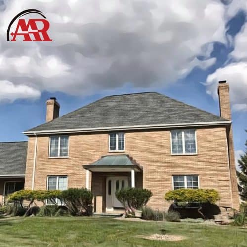 roofing companies shelby ohio brick home with shingle roof repair