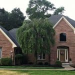 masonry careers mansfield brick home with willow tree in front