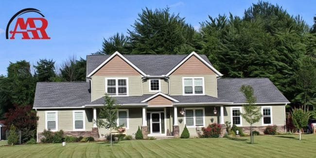 mansfield roofers near me home with new shingle roof and vinyl siding and gutters