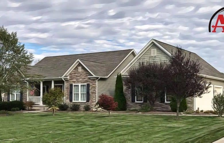 roofers Mansfield home with new shingle roof and vinyl siding