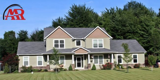 Mansfield roofers near me home with roof shingles installation and vinyl siding