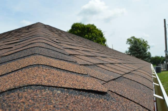 roofers mansfield replaced the old roof and put on this new sienna brown shingle roof