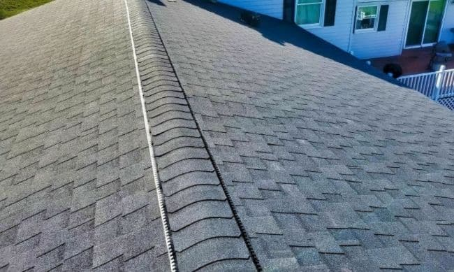 gray shingles roof replacement on home done by roofing companies in Mansfield Ohio