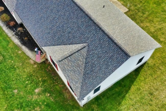 new roof installation on home from storm damage