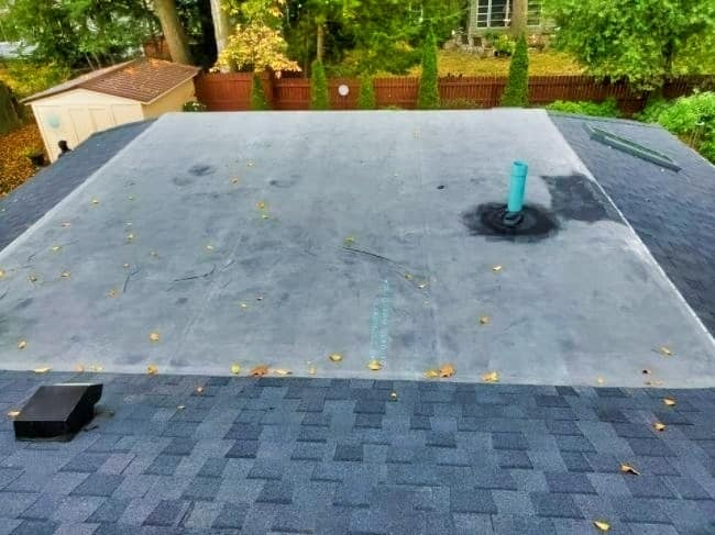 flat roofing replacement by roofing companies in Galion Ohio